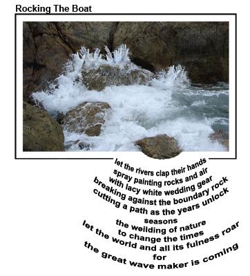 Rocking The Boat - prophetic concrete visual poem by Jennifer Phillips