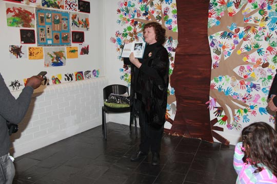 Jennifer opening the Roots of Belonging Art Exhibiton in Belconnen